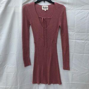 For Love & Lemons Knitz Sweater Dress